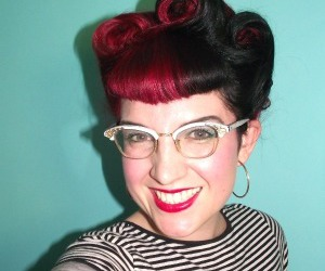red, rockabilly, and rockalily image