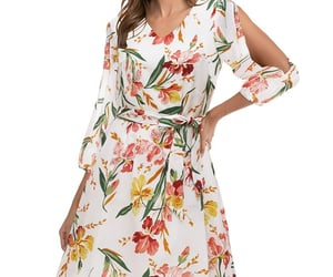 short dress, summer dress, and chiffon dress image
