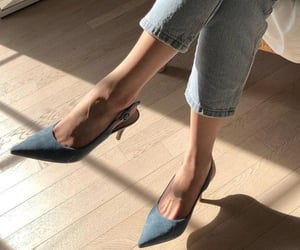 fashion, blue, and shoes image