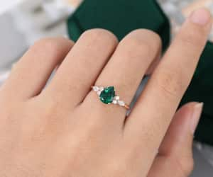 bridal, diamond, and rose gold image