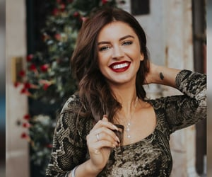 beauty, red lips, and smile image