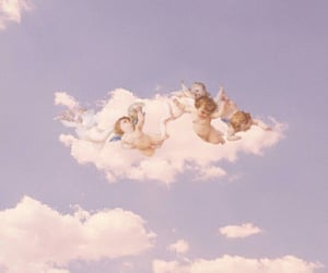 aesthetic, angels, and sky image