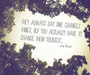 quote, change, and time image