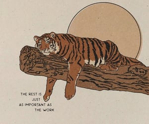 rest, tiger, and art image