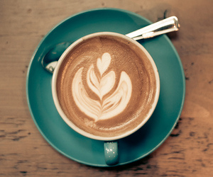 latte and coffe art image