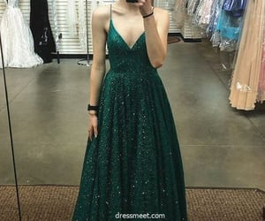 evening dress, formal dress, and sequins prom dress image