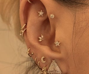 jewelry, ear, and piercing image