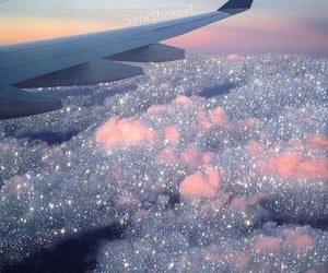 aesthetic, sky, and glitter image