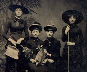 witch, vintage, and coven image