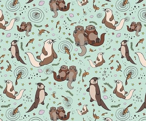 animal, background, and otters image