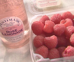 food, raspberry, and drink image