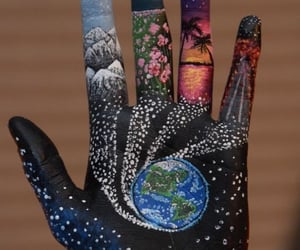 body painting, belleza, and manos image