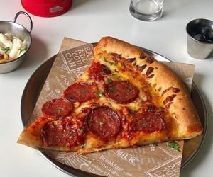 food, italy, and slice image