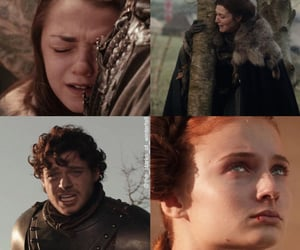 arya stark, a song of ice and fire, and sansa stark image