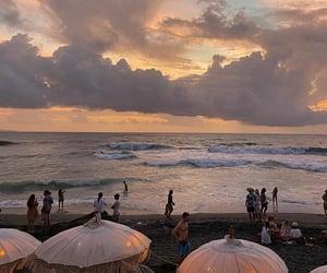 bali, beach, and sunset image