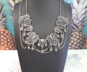 etsy, art nouveau necklace, and martini mermaid image