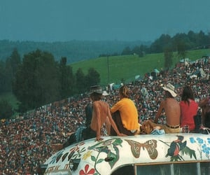 woodstock, 70s, and festival image