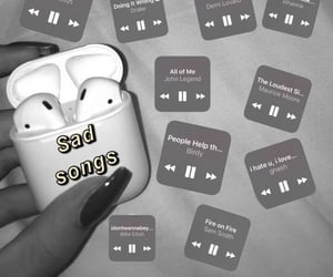 sad, songs, and music image
