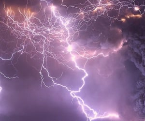 lightning and purple image
