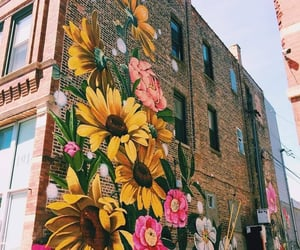 flowers, graffiti, and art image