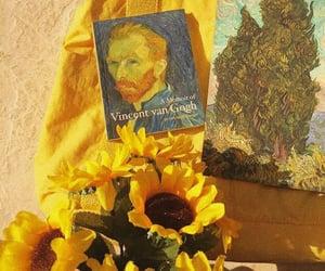 yellow, sunflower, and van gogh image