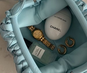 beauty, blue, and chanel image