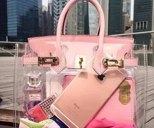pink, bag, and iphone image
