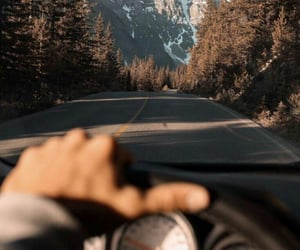 car, mountains, and nature image