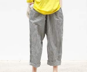 etsy, comfy pants, and loose wide leg trousers image