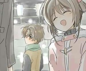 sakura card captor, shaoran, and sakura kinomoto image