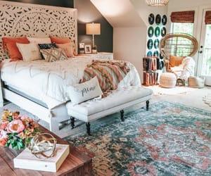 bedroom, decor, and bohemian image