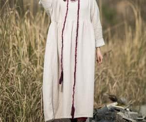 etsy, beige dress, and long dress image