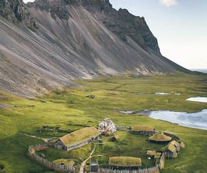 iceland, landscape, and viking village image
