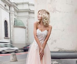 tulle, pearl pink, and sweetheart strapless image