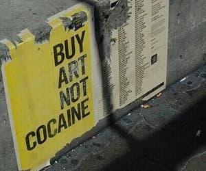 art, cocaine, and grunge image
