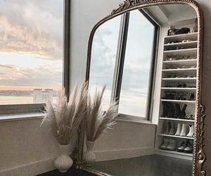 mirror, interior, and sky image