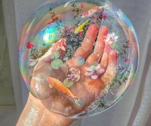 bubbles, aesthetic, and fish image