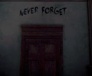 door, forget, and wall image