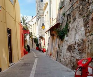 alley, crete, and Greece image