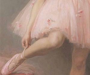 aesthetic, ballerina, and painting image