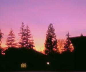 retro, sunset, and vintage image