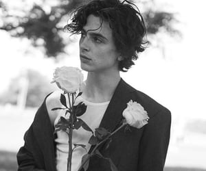 timothee chalamet and black and white image