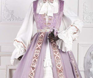 aesthetic, dress, and lilac image