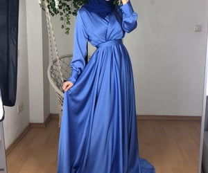dress, hijab, and fashion image