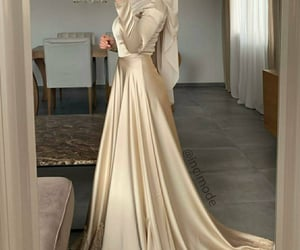 fashion, gold, and hijab image