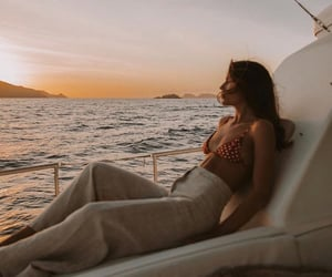 sea, summer, and yacht image