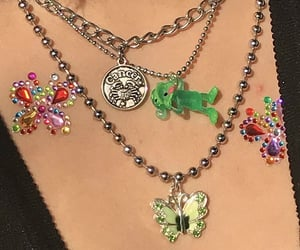 aesthetic, butterfly, and necklace image