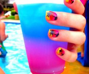 summer, nails, and drink image