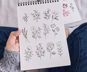 black, blue, and doodles image