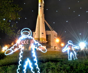 cosmonaut, Soviet Union, and space image